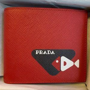 Prada leather bifold wallet NWB